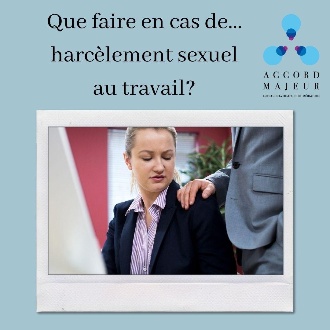 COMMENT REAGIR EN CAS DE HARCELEMENT SEXUEL AU TRAVAIL?